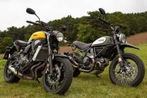 Ducati Scrambler vs. Yamaha XSR 700