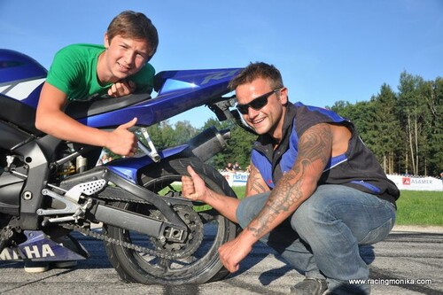 Motorrad Bild: Speedmeeting Pettenbach Burn out Show und Siegerehrung