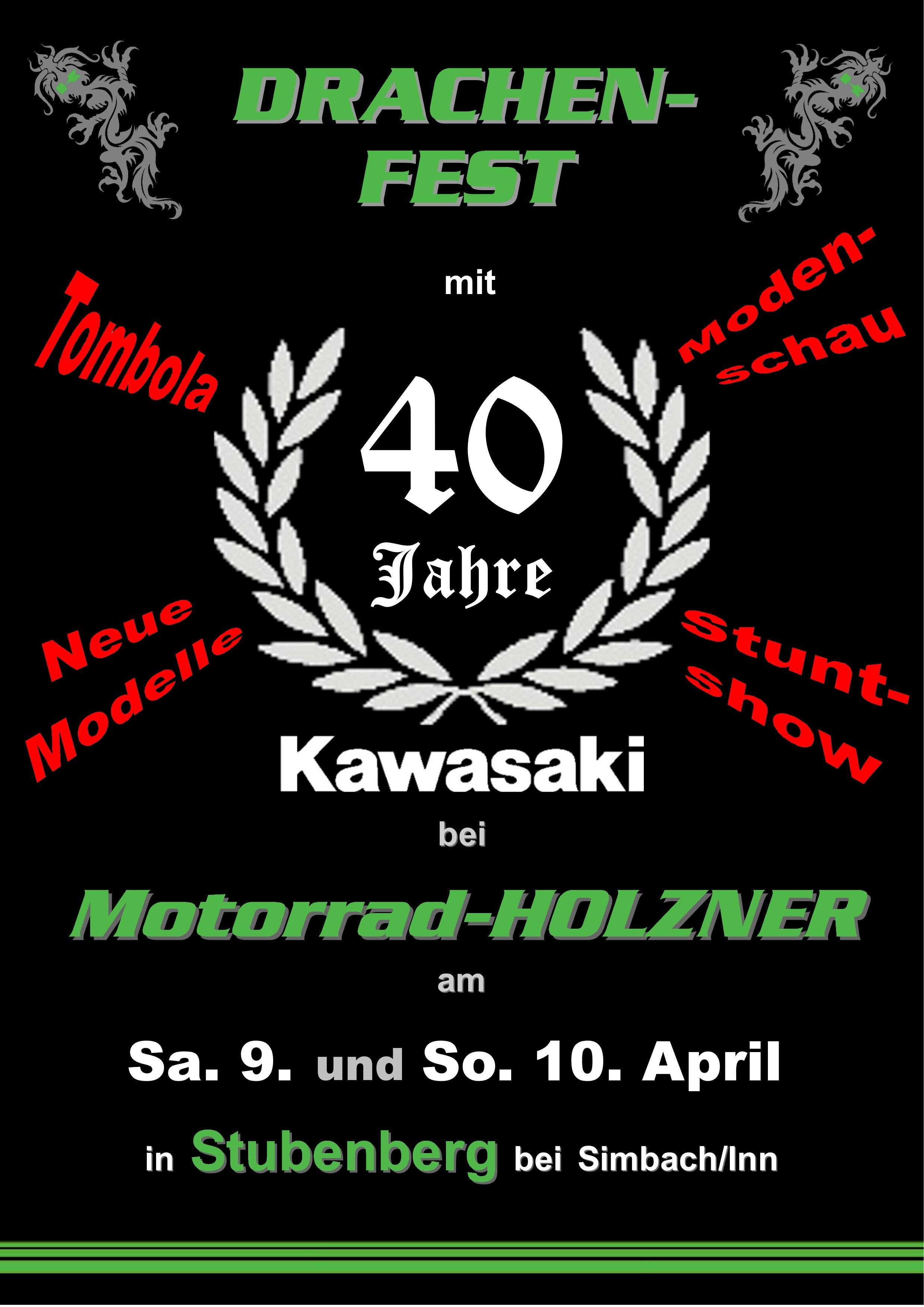 2016 Drachenfest Mit 40 Jahre Kawasaki Bei Motorrad HOLZNER