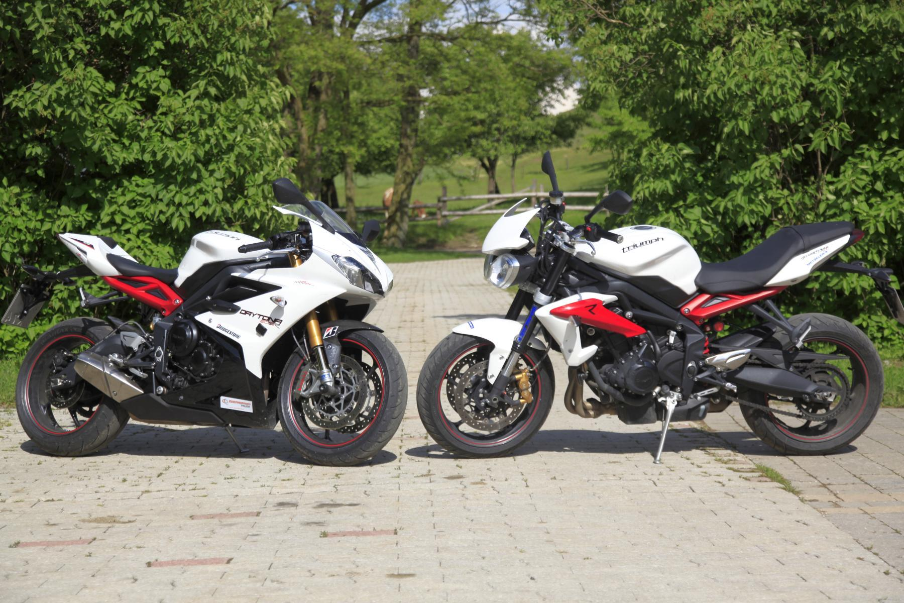 675r vs street triple testbericht. Black Bedroom Furniture Sets. Home Design Ideas
