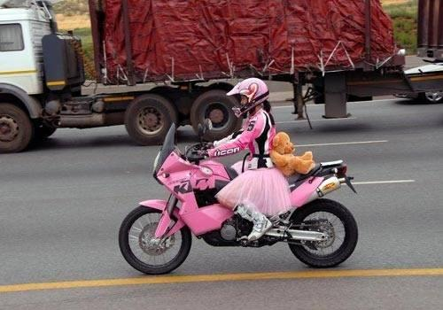 Lustige Motorradbilder Foto