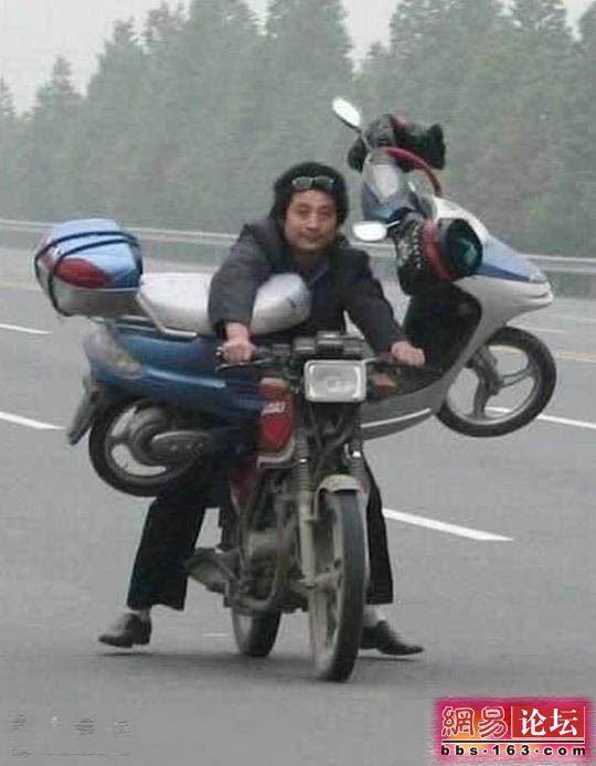 lustige motorrad