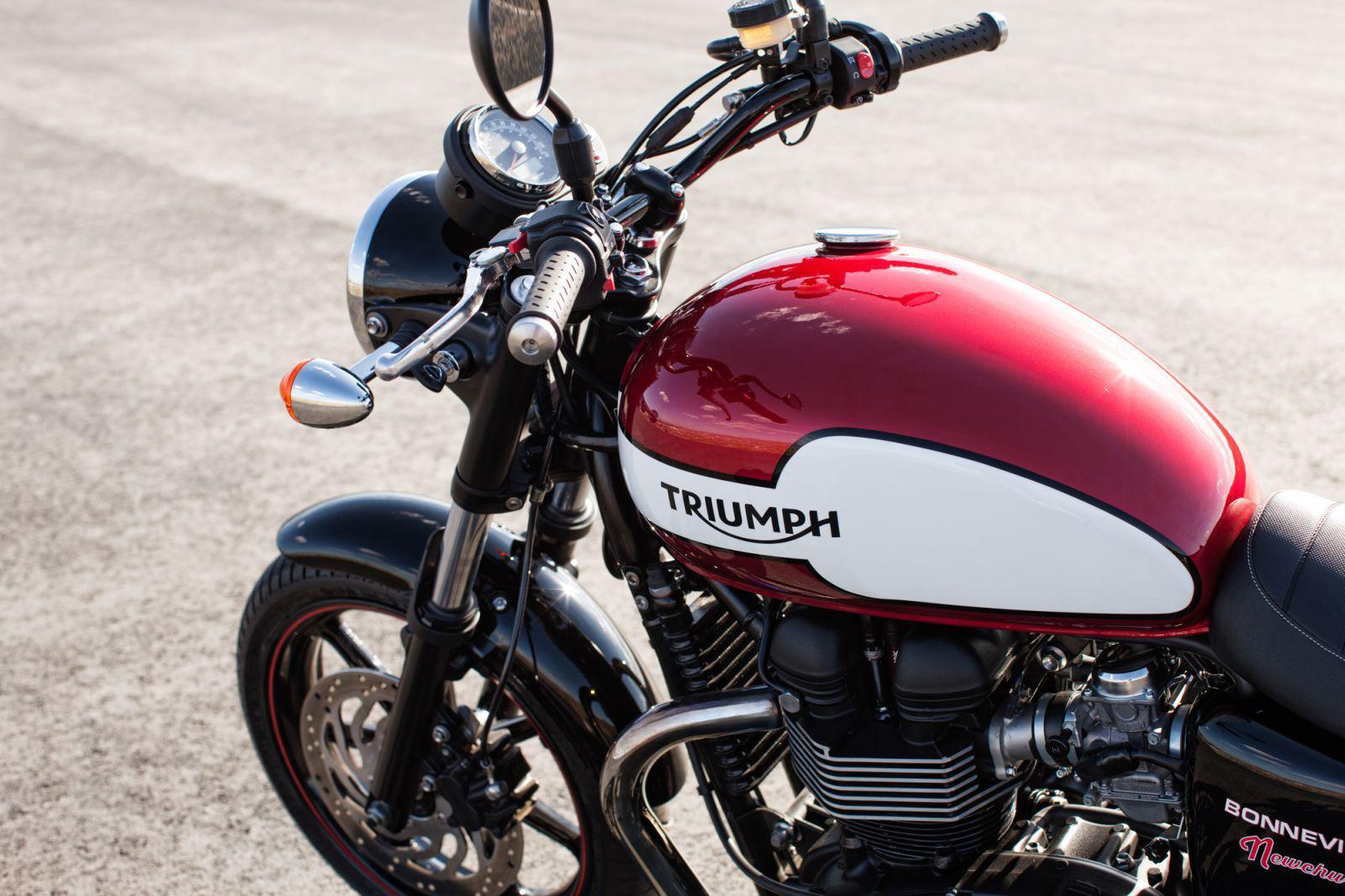 Triumph Bonneville Lenker Motorrad Bild Idee