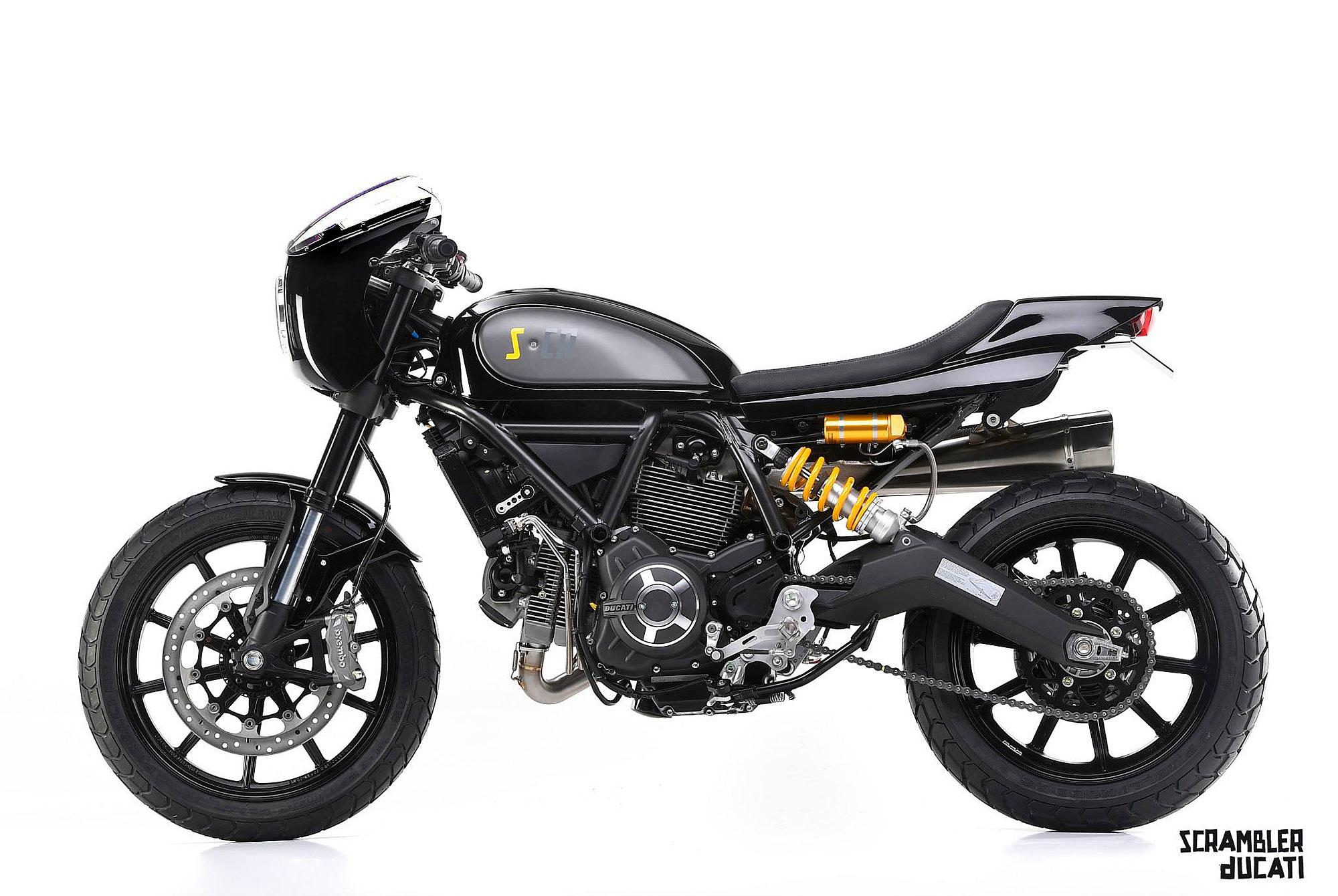 ducati scrambler cr by mr martini motorrad fotos. Black Bedroom Furniture Sets. Home Design Ideas