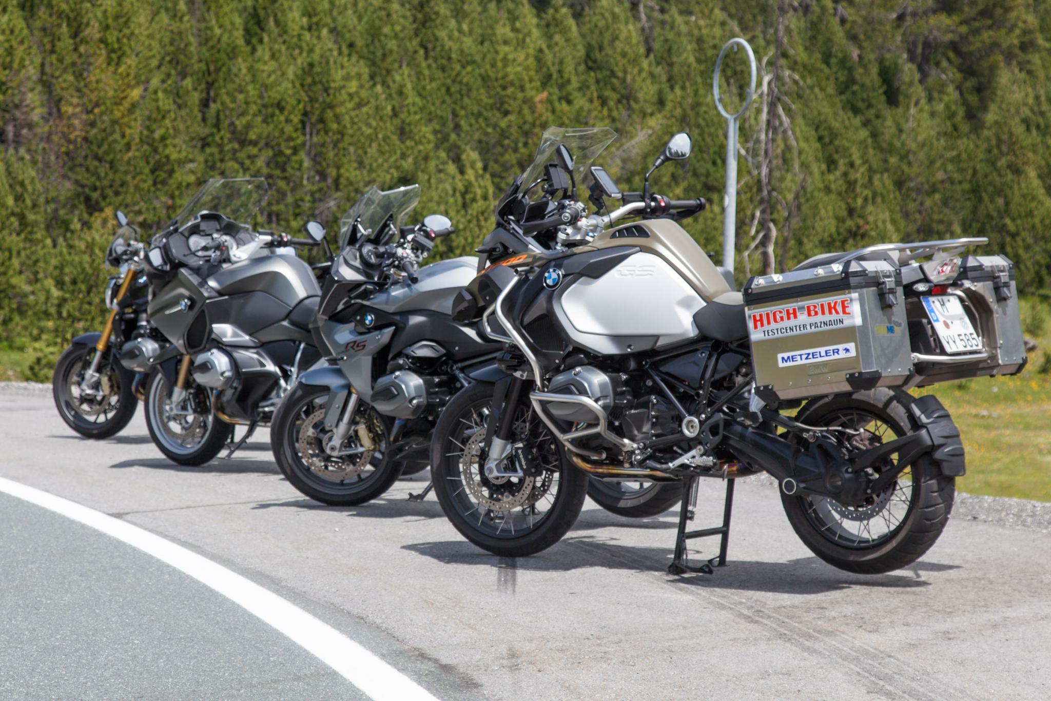 BMW Boxer-Modelle Vergleich in den Alpen 2015 Foto