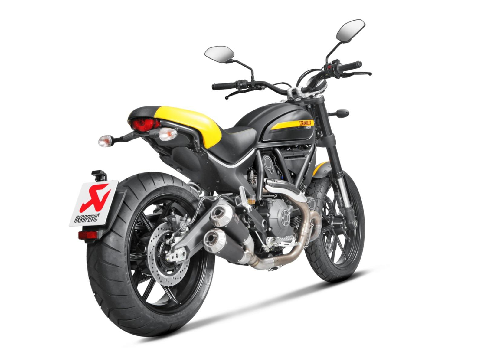 akrapovic auspuff f r ducati scrambler motorrad fotos. Black Bedroom Furniture Sets. Home Design Ideas
