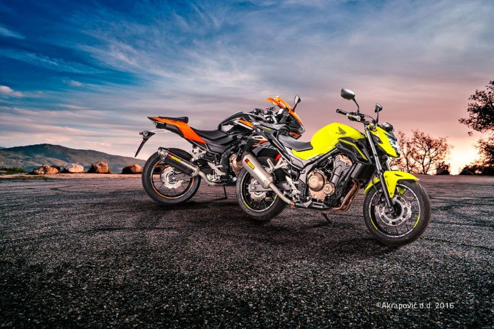 Akrapovič Slip-On-Systeme für die Honda CBR 400/500 R und CB 500 F Foto
