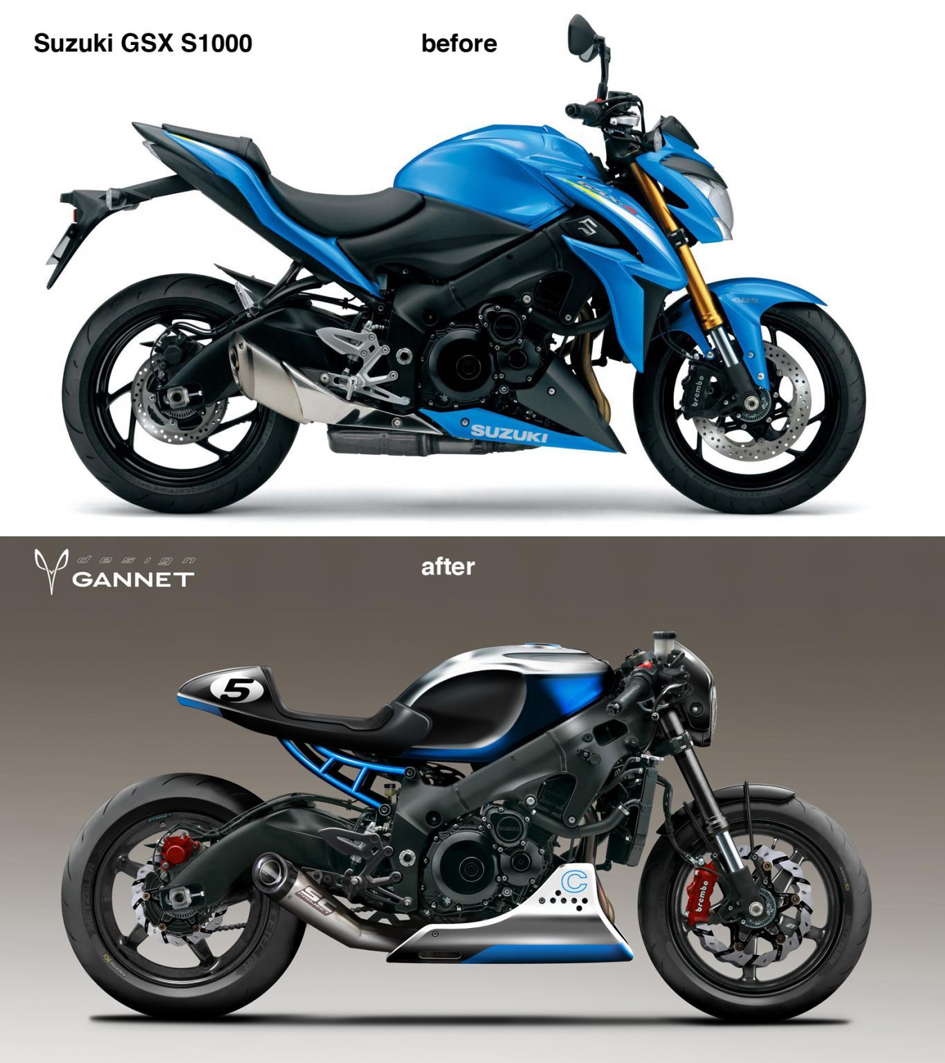 suzuki gsx s750 cafe racer motorrad fotos motorrad bilder. Black Bedroom Furniture Sets. Home Design Ideas
