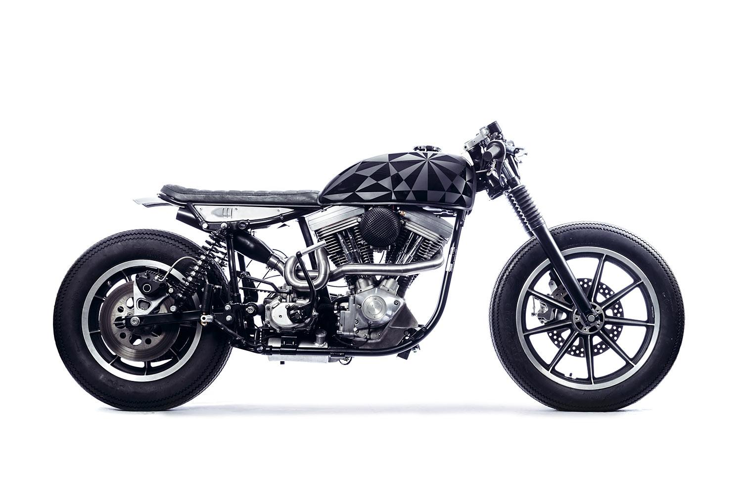 harley fxsb cafe racer umbau von young guns speed shop. Black Bedroom Furniture Sets. Home Design Ideas