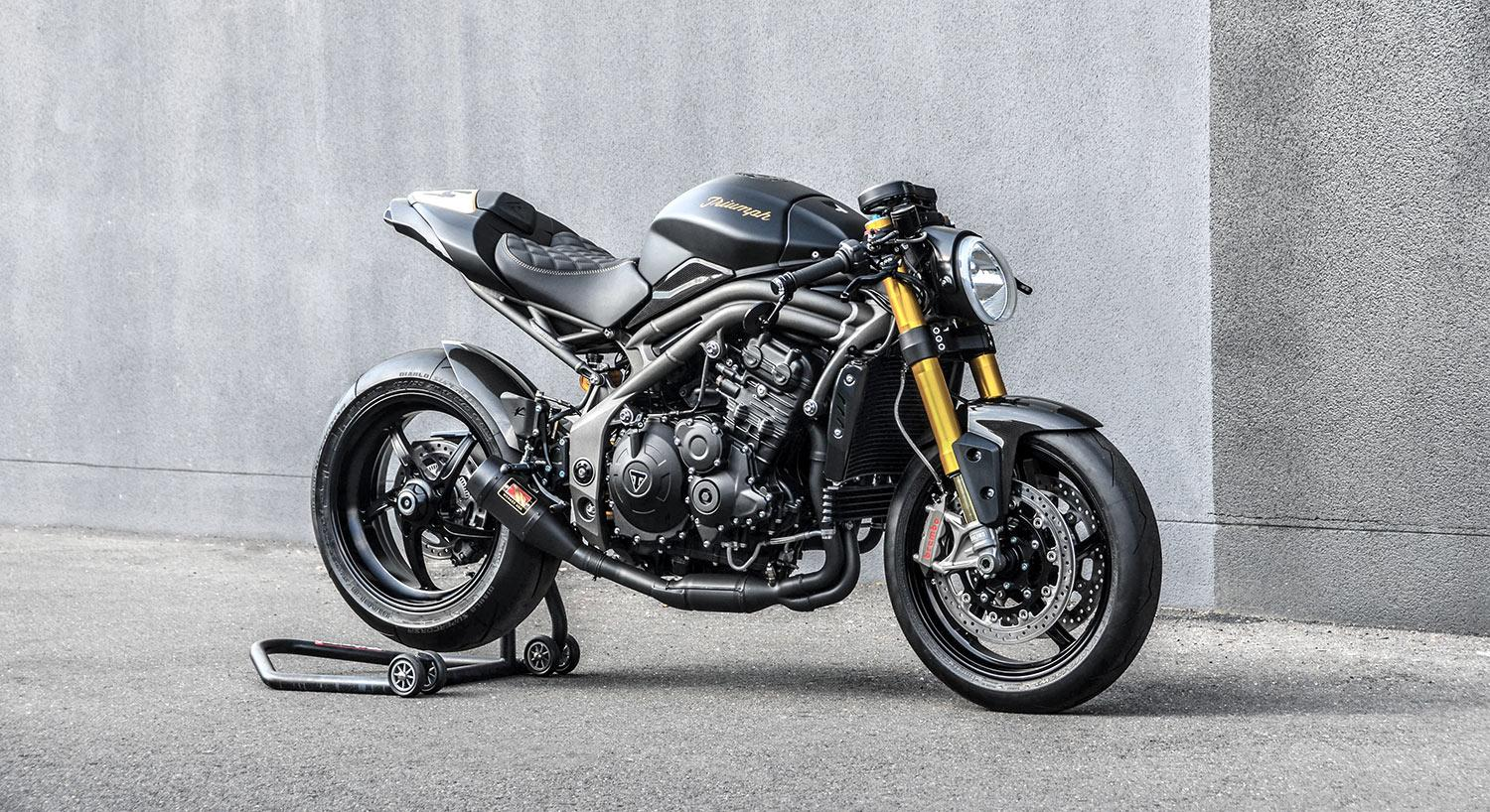 Triumph Speed Triple Cafe Fighter Umbau von GB Motors 94 Foto