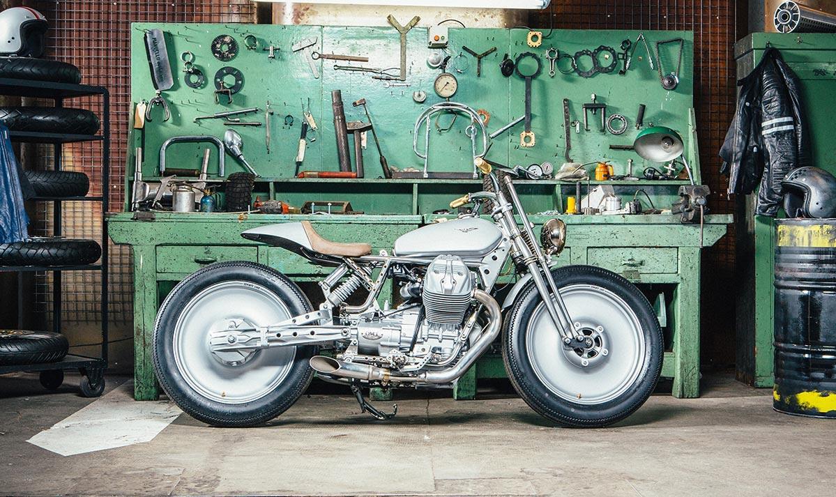 Moto guzzi v9 silver knight von omt garage for Gad garage v9