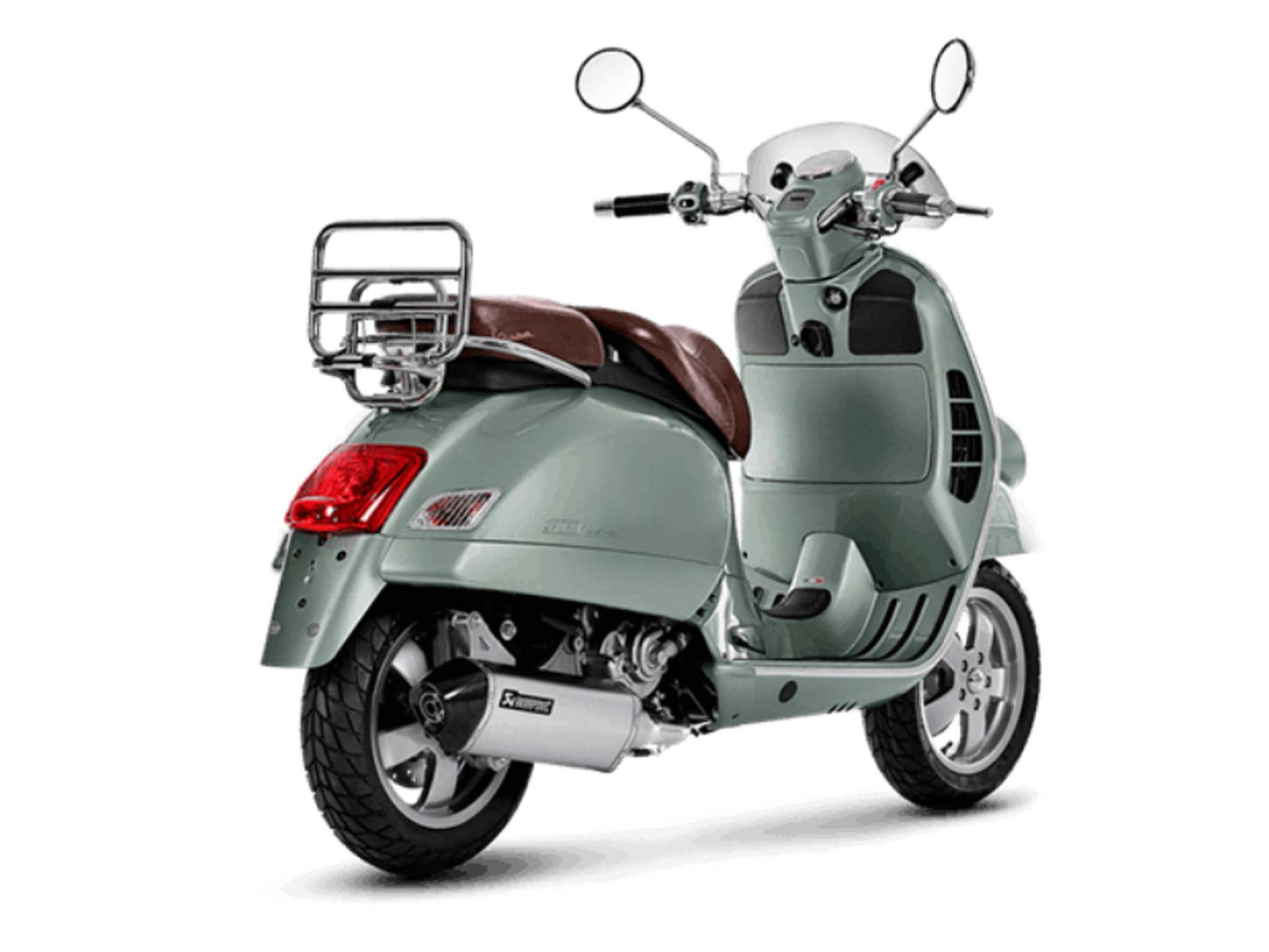 akrapovic auspuffanlage f r die vespa gts 300 hpe. Black Bedroom Furniture Sets. Home Design Ideas