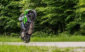 Kawasaki Z1000SX Test | Stunts, Action, Fahraufnahmen Bild 7 Kot: Honda Hornet S, Yamaha Fazer, Suzuki Bandit S... Die Idee, aus einem Naked Bike einen Sporttourer zu machen, ist nicht neu. Halbverkleidung drauf, fertig. Doch eigentlich gehört viel mehr dazu, wie die Z1000 SX zeigt.