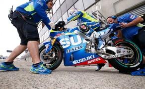 MotoGP Le Mans 2015 Bild 13 Maverick Vinales rettet mit dem 9. Platz einige wichtige Punkte für Suzuki.