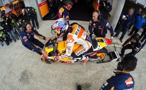 MotoGP Le Mans 2015 Bild 7 Weit weniger gut lief es für Dani Pedrosa, der kleine Spanier stürzte sehr früh im Rennen.