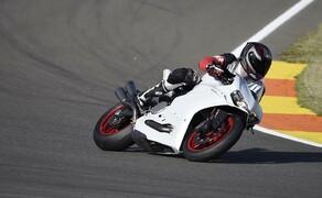 Ducati 959 Panigale Test Valencia Bild 1 Wir fuhren die neue Panigale 959 auf der MotoGP Strecke in Valencia.