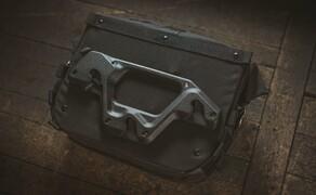 Trägersystem von SW-MOTECH für Legend Gear Seitentaschen im Retro-Design Bild 3 Die Seitentaschen LC1 und LC2 der Serie Legend Gear lassen sich per Schnellverschlussbefestigung aus glasfaserverstärktem Polyamid mit wenigen Handgriffen am Seitentaschen-Träger befestigen.