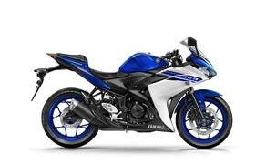"""10 Motorräder mit niedriger Sitzhöhe 2016 Bild 8 Yamaha YZF-R3 - optisch ganz nahe an den großen punktet auch dieser """"Bonsai-Sportler"""" mehr durch seine Handlichket als durch seine Leistung."""