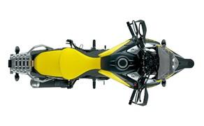 """Suzuki V-Strom 1000 ABS 2017 Bild 9 Neben optischen Überarbeitungen, neuen Farbkonzepten und den notwendigen Änderungen am 1037 Kubik großen V2-Motor präsentiert Suzuki das neue """"Motion Track Brake System"""", ein Upgrade des Bosch ABS durch eine 5-Achsen Inertial Measurement Unit (IMU), wie sie zuerst in Sportmotorrädern eingesetzt wurde."""