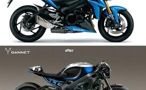Suzuki GSX-S750 Cafe Racer Bild 3