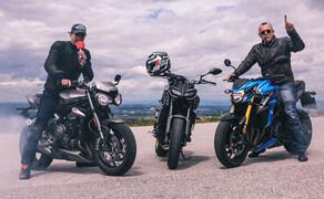Nakedbike Vergleich - Triumph vs. Yamaha vs. Suzuki Bild 18