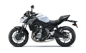 Neue Farben für 2019 Kawasaki Modelle Bild 9 Kawasaki Z650: Pearl Flat Stardust White/Metallic Flat Spark Black