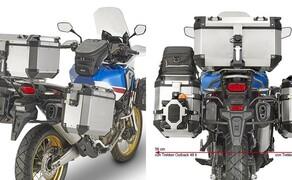 Neues GIVI-Zubehör für die Honda Africa Twin 2018 Bild 5 Breite der Seitenkofferträger plus Koffer