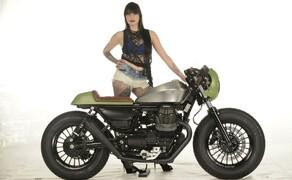 Ottocentocinquantatré - 853 cm³ in der Custom Moto Guzzi Bobber Bild 2