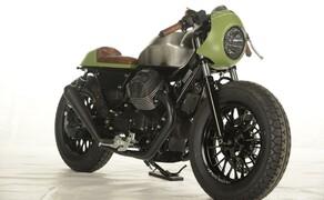 Ottocentocinquantatré - 853 cm³ in der Custom Moto Guzzi Bobber Bild 11
