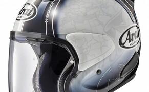 Helmneuheiten 2019  Bild 3 Der SZ-R VAS ist der neue Open-Face-Helm von Arai, der auch optional die Möglichkeit bietet, ein PRO Shade (ein zusätzliches Sonnenvisier) zu montieren. Das neue SZ-Modell ist bereits für den zusätzlichen Einbau von Lautsprechern vorbereit und/oder auch zur Verwendung von Brillen.