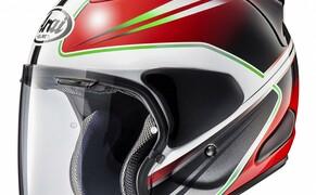 Helmneuheiten 2019  Bild 4 Der SZ-R VAS ist der neue Open-Face-Helm von Arai, der auch optional die Möglichkeit bietet, ein PRO Shade (ein zusätzliches Sonnenvisier) zu montieren. Das neue SZ-Modell ist bereits für den zusätzlichen Einbau von Lautsprechern vorbereit und/oder auch zur Verwendung von Brillen.