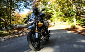 Top 5 Motorradneuheiten 2019 von Vauli Bild 5 Ich mag Reiseenduros, sie sind meiner Meinung nach die wahren Universaltalente auf zwei Rädern. Längere Touren, gemütliches Cruisen, sportliches Kurvenwetzen und Geländeausflüge – alles kein Problem. Manche sehen sogar ziemlich schick aus und machen daher eine ausgezeichnete Figur, falls wirklich nur ein einziges Motorrad in der Garage Platz hat. Eine von diesen feschen Allrounderinnen ist die neue Moto Guzzi V85 TT, die es mir besonders in der Gelb-Weißen Lackierung samt rotem Rahmen angetan hat. Knapp 80 PS aus einem 850er-Motor in legendärer Längs-V2-Bauweise sollten reichen und die aktuellen Elektronik-Gadgets sind auch mit an Bord. Vielleicht passt das Farb-TFT-Display nicht ganz zum klassischen Stil, wirklich störend ist es aber auch nicht.