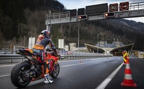 Mit dem KTM MotoGP Bike durch den Gleinalmtunnel Bild 4