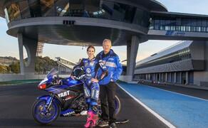 Suter Kupplung: MotoGP Technologie im Schweizer Yamaha R3 Cup Bild 4 Suter Test Jerez mit R3 Cup Verantwortlichem Franz Hunkeler
