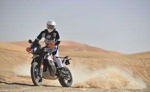 KTM 790 Adventure R Test Bild 3 Für Fahrten in die Wüste kann man den serienmäßigen Papierfilter gegen einen Offroad Schaumfilter ersetzen. Dieser Schaumfilter muss wie bei Hardenduros gewohnt aber täglich gereinigt werden!