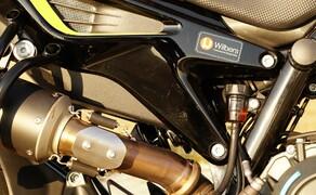 KTM 790 DunlopDuke Touring Ausbau Bild 10 Wichtige Änderung: Das Fahrwerk! Vorne wie hinten setzen wir auf einen Wilbers Umbau - durchgeführt von Martin Bauer MB Bikeperformance.