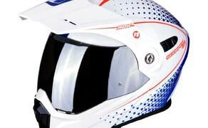 Neue Farben für den SCORPION ADX-1 Bild 5 Der SCORPION ADX-1 im Horizon  Design in der Farbe Pearl Weiß-Rot-Blau