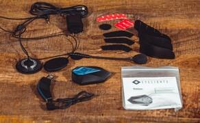 EyeLights - Head-Up-Display Bild 2 Steuergerät, HUD, Mikrofon, Lautsprecher und Zubehör.