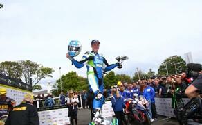 METZELER räumt auf der Isle of Man und bei der North West 200 ab Bild 1 Dean Harrison bei seinem Sieg der Dunlop Senior TT