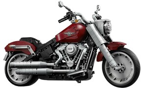 Harley-Davidson Fat Boy als Lego Modell Bild 4