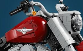 Harley-Davidson Fat Boy als Lego Modell Bild 2