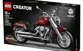 Harley-Davidson Fat Boy als Lego Modell Bild 1