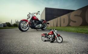 Harley-Davidson Fat Boy als Lego Modell Bild 3