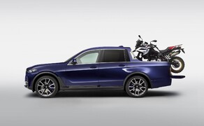 BMW Pickup! Bild 2 BMW X7 Pickup mit BMW F 850 GS