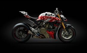 """Motorrad Neuheiten 2020 Bild 17 Und so sah sie noch als Erlkönig aus. Der Streetfighter V4 wurde erstmals am Pikes Peak präsentiert. Hier die Story zum <a href=""""/modellnews-3005708-ducati-streetfighter-v4-2020-prototyp-beim-pikes-peak"""">Ducati Streetfighter V4 2020 Erlkönig</a> ."""