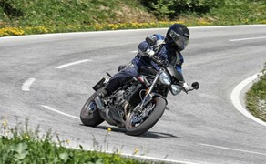 Test in den Alpen - High-Bike Testcenter Paznaun Ischgl 2019 Bild 6 Triumph Street Triple RS