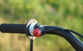 Husqvarna EE5 Kinder Motocross Bild 13 Kommt immer wieder mal zum Einsatz: Der Kill-Switch mit Schlaufe