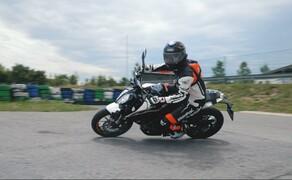Dunlop Reifentest - Geile Pneus auf 125ern Bild 5 Auch Dennis geht mit den Reifen ans Limit!