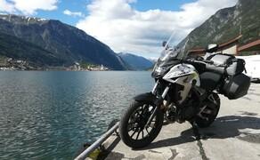 Norwegen Reisebericht - Ein Traum auf zwei Rädern Bild 10 Hauptsächlich kommt in Norwegen das Wasser aber doch von unten. Von oben scheint den Großteil unserer Reise die Sonne und angenehme 20°C bieten perfektes Motorrad-Wetter.