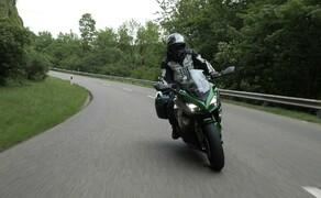 Kawasaki Sporttourer Vergleichstest Bild 8 Die Z1000SX lässt sich super navigieren und macht einfach Spaß ohne Ende